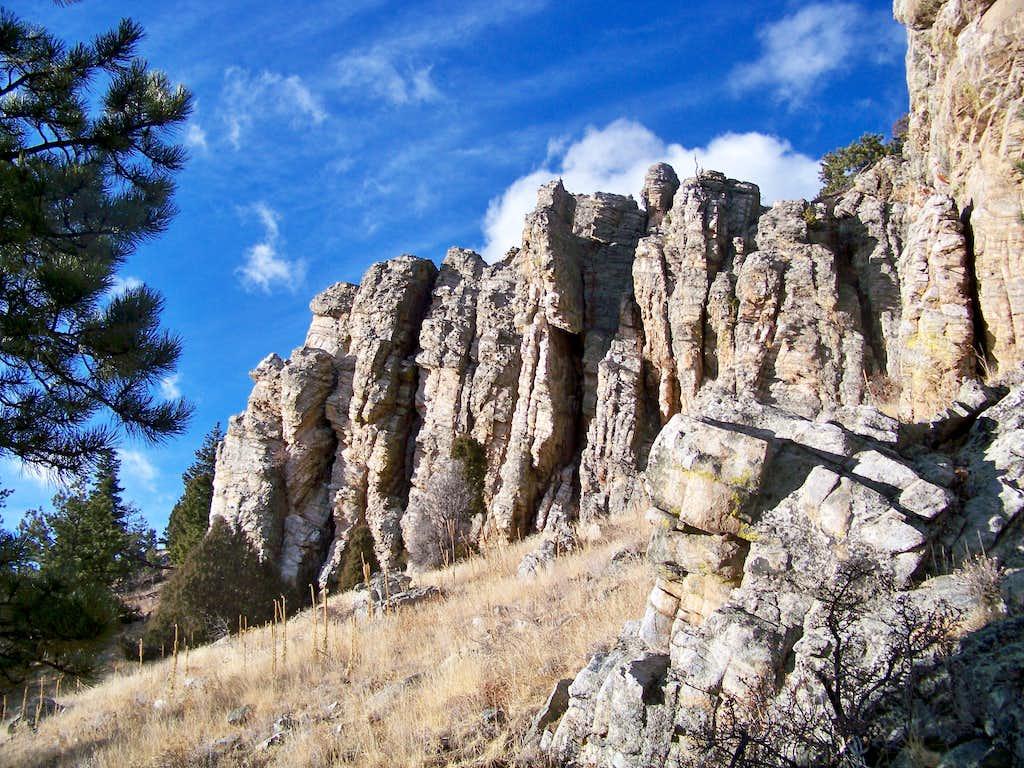 South slope rock outcrop #3