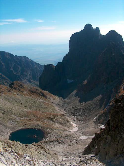 Modré Pleso, 2192m, Tatra's highest lake, from Sedlo Sedielko