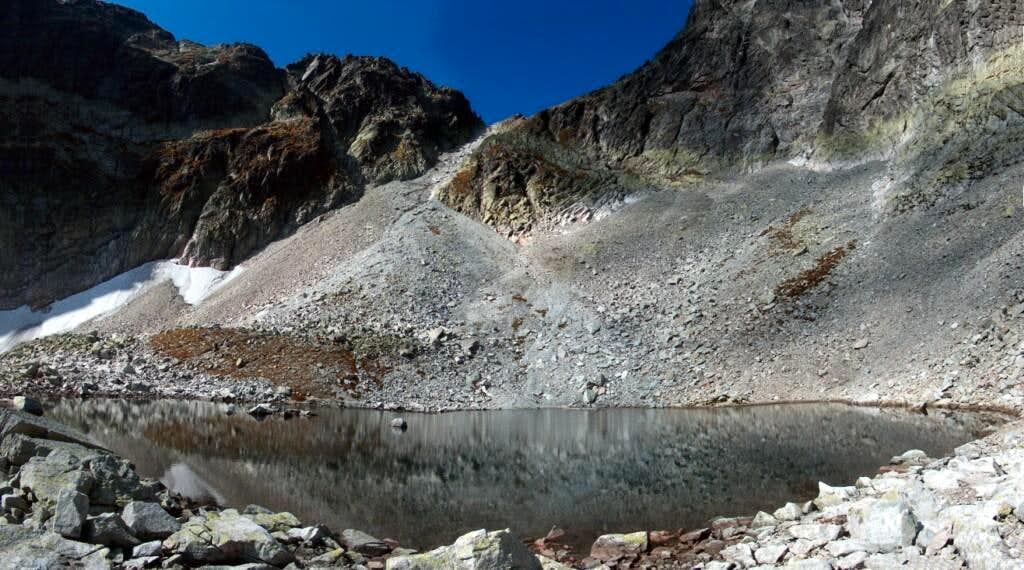 Modré Pleso, 2192m, Tatra's highest lake, below Sedlo Sedielko