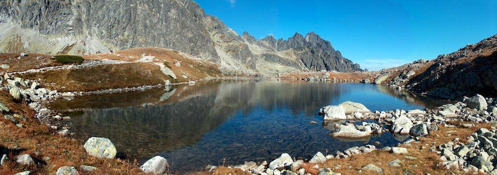 Lake Starolesnianské Pleso., in the valley Veľká Studená Dolina