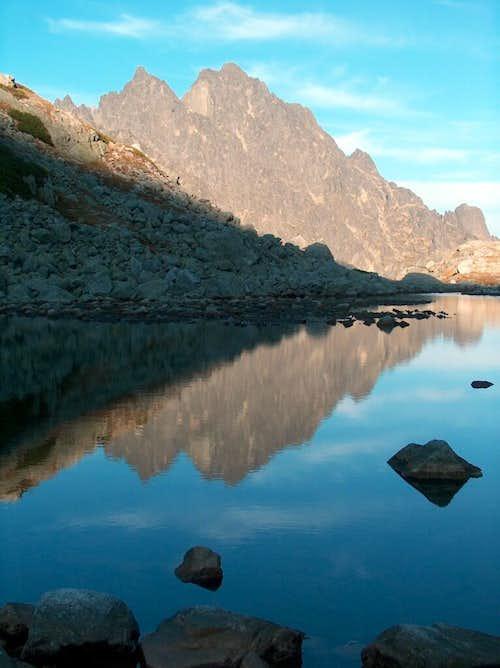 Lake Sesterké Pleso near the hut <a href=