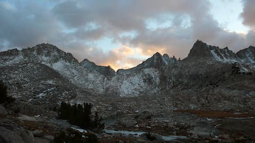 Sun set on Feather Peak