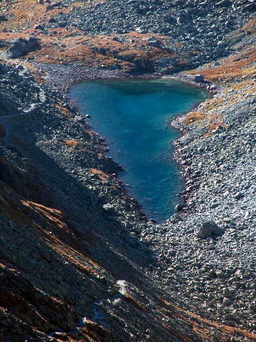 Lake Dlné Pleso, south from the pass Polský Hreben