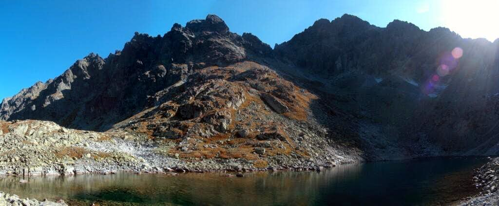 Lake Litorové Pleso in the valley <a href=