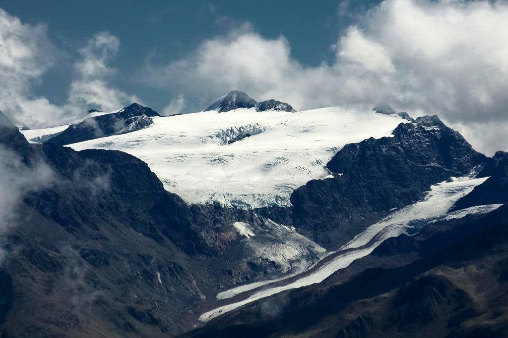 Hintere Hintereisspitze (3486m), Hochvernagt-Wand (3435m), Vernagt (3355m)