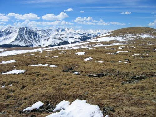 Glacier Peak\'s summit plateau...