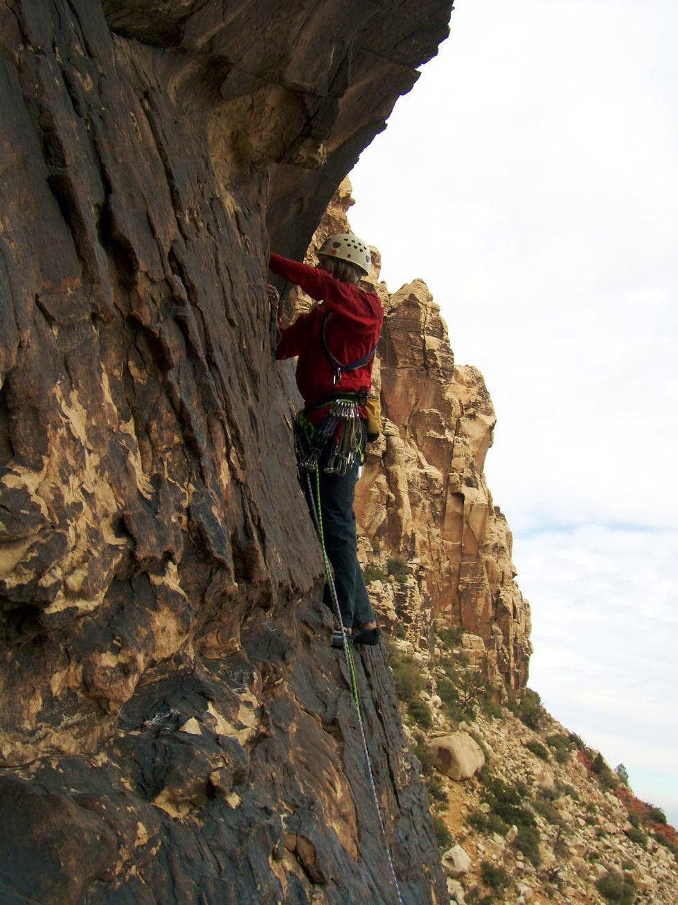 Solar Flare, 5.10c, 5 Pitches