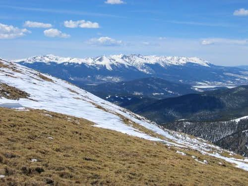 The rugged Gore Range from...