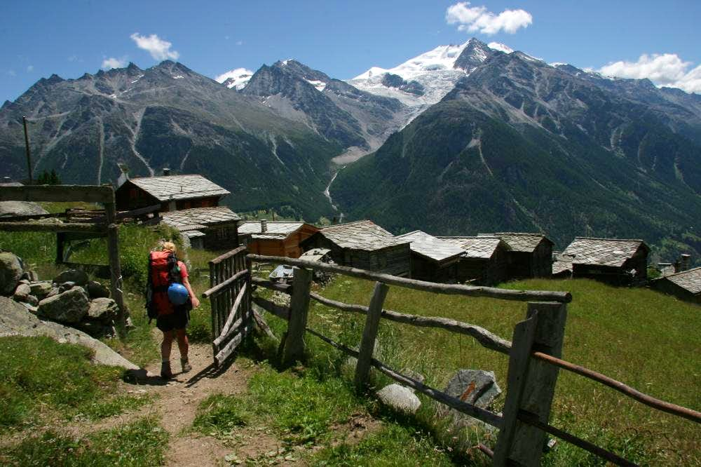 Walker\'s Haute Route: Chamonix to Zermatt (with my sister, 2005)