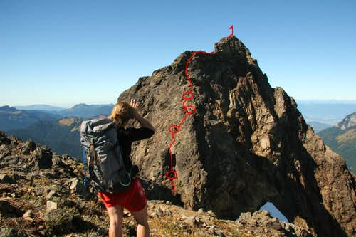 The fun route up Tomyhoi Peak