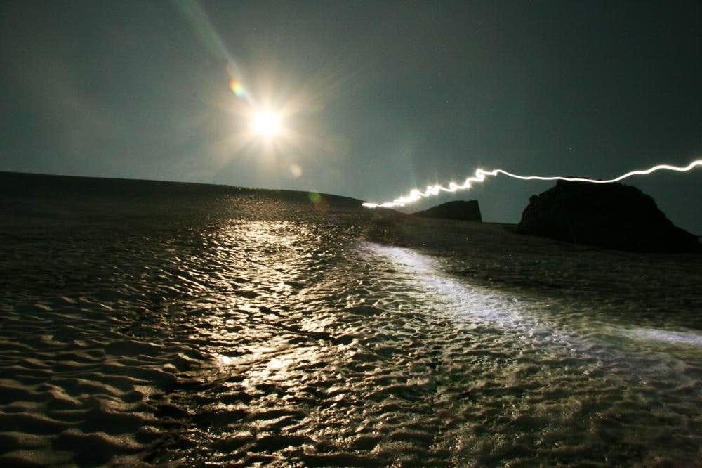 A moonlight climb of Ruth Mountain