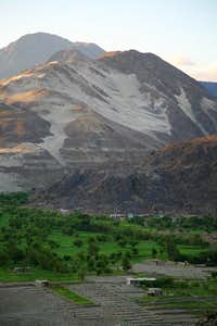 A village on Karakoram Highway, North Pakistan