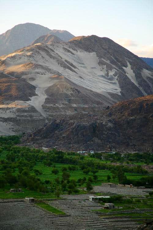 A village on Karakoram Highway, North Pakistan