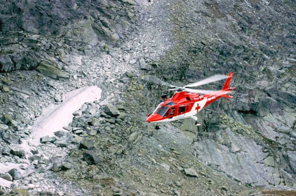 Helicopter of the mountain rescue service