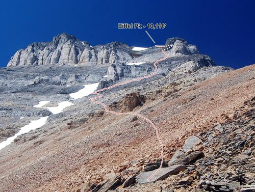 The Southeast Ridge of Eiffel Peak