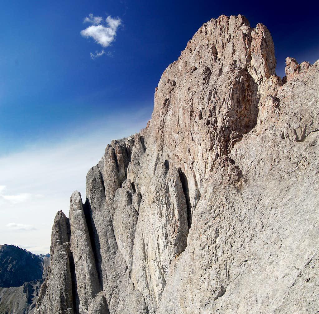 The summit block of Mt Edith
