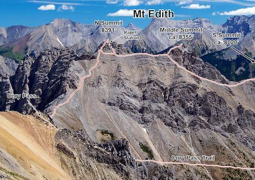 Mt Edith Summit Traverse