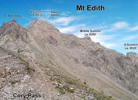 Mt Edith North Summit Route