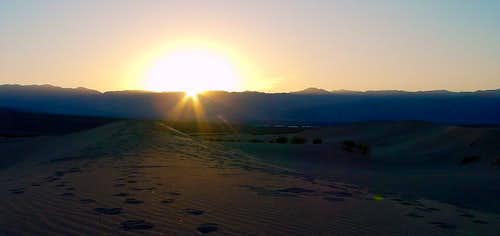 Sunset at Mesquite Flat Sand Dunes