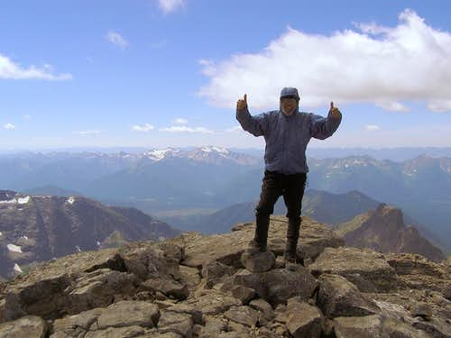 Pumped on the summit of Stimson