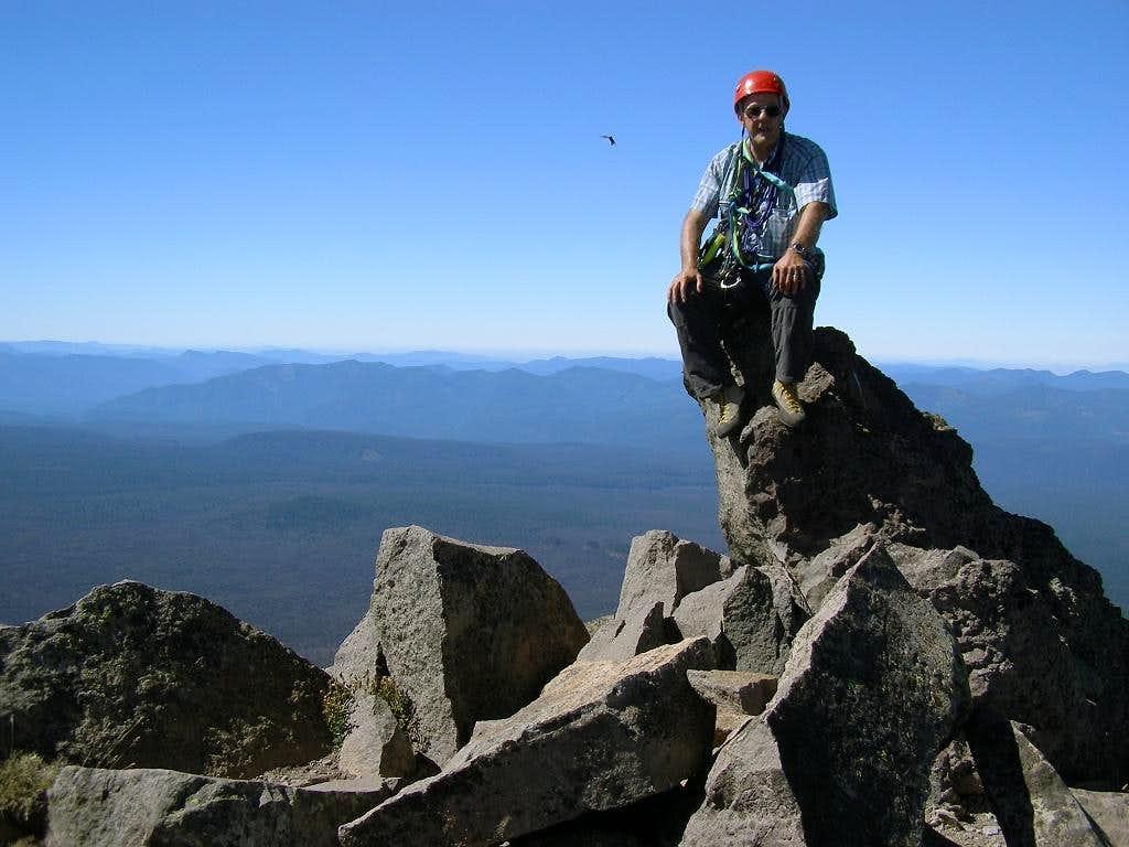Fred Spicker on the summit of Oregon's Mt. Washington