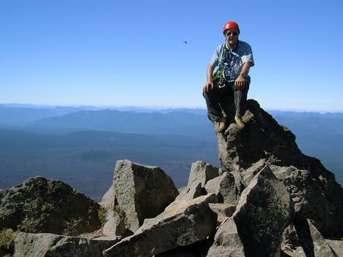 Fred Spicker on the summit of Oregon's Mt. Washington