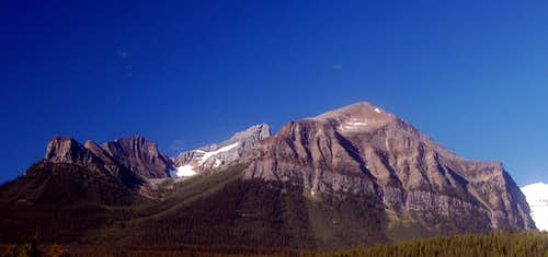 Mt Fairview seen from Lake Louise town