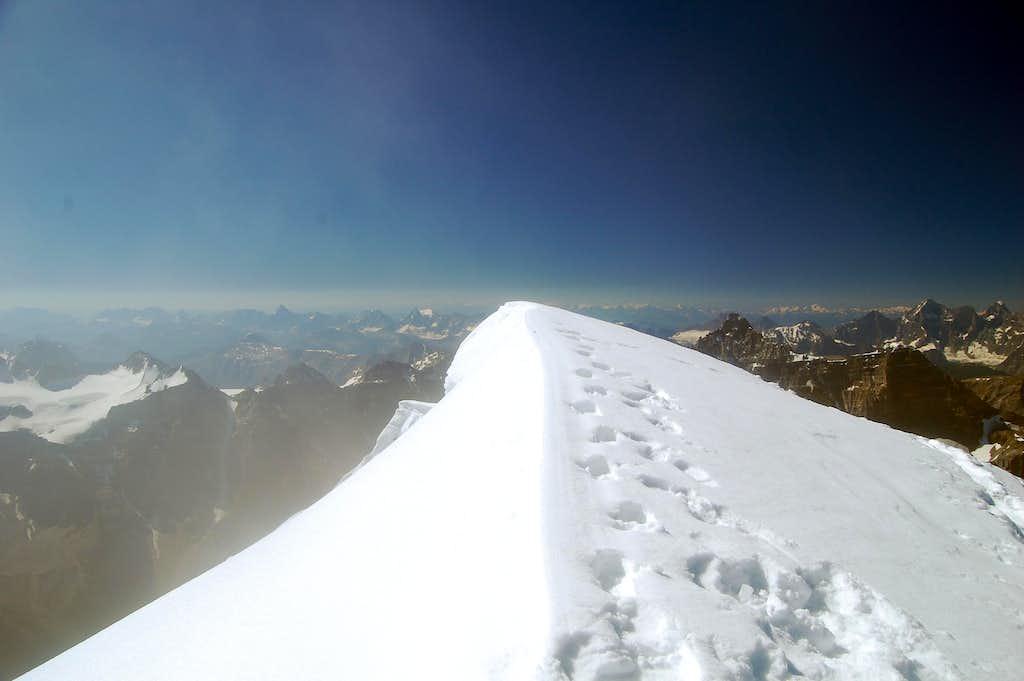 Cloudy summit ridge