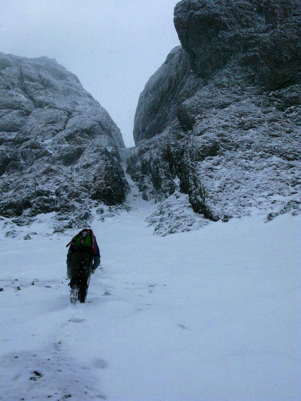 Entering Main Snow Gully