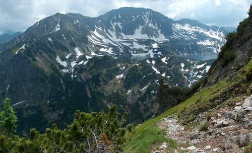 Tatra's 5 lakes Valley (Dolina Pięciu Stawów) as seen from the trail to Krzyżne