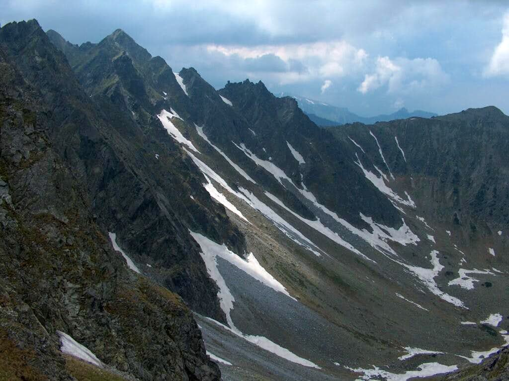 On Krzyżne (Polish Tatras), lookind down into Dolina Panszczyca