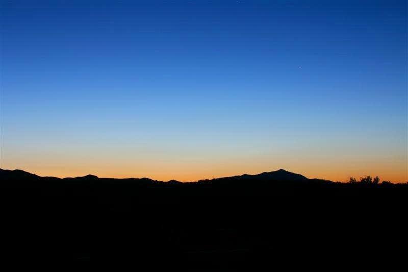 Twilight in Joshua Tree