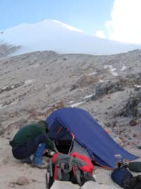 Orizaba - high camp and route to summit