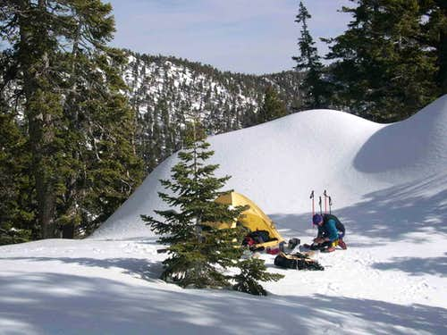 Crampon Camp-South Side of Mt. San Jacinto in winter