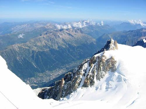 Aiguille du Midi and Chamonix...