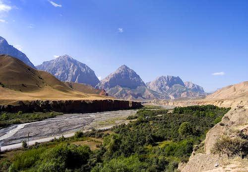 A road in Kyrgyzstan