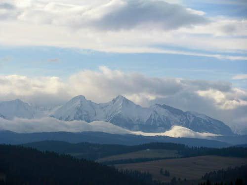 Tatras from Castle