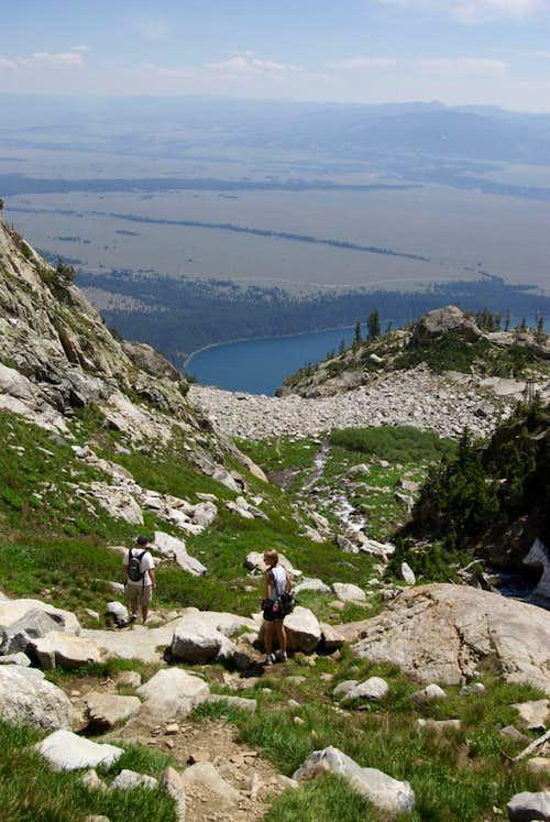 Trail below Ramshead Lake