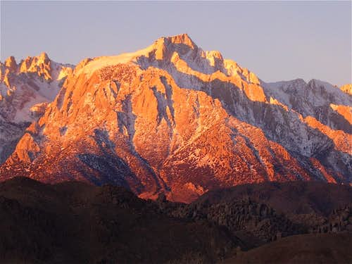 Sunrise on Lone Pine Peak