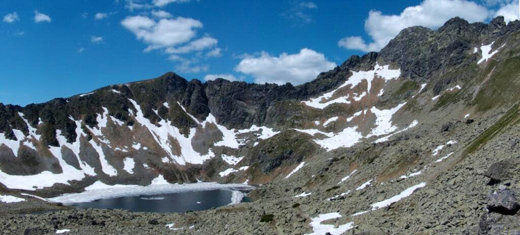 From Zawrat, view to Zadni Staw, the last of the 5 lakes valley