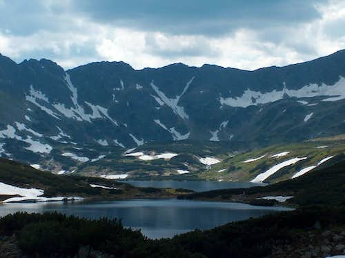 The valley of the Five Lakes, from the mountain hut of the same name