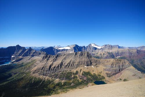 looking west from Crowfeet Mountain
