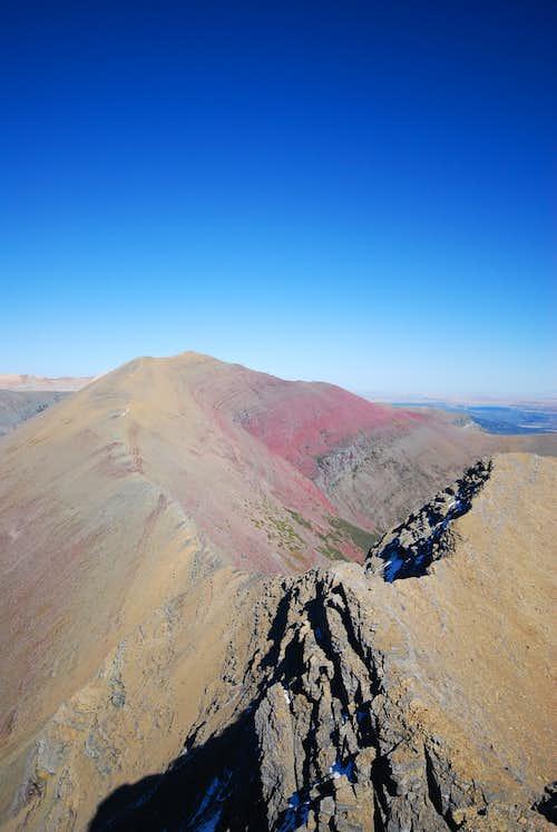 ridge connecting Mount Henkel and Apikuni Mountain