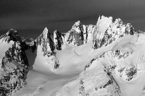 A side of Mt. Challenger you rarely see (aerial photography)