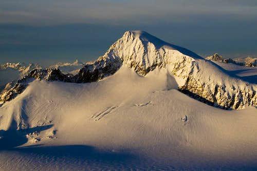 Winter light on Eldorado (aerial photography)