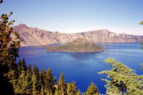 Crater Lake, with parasitic...