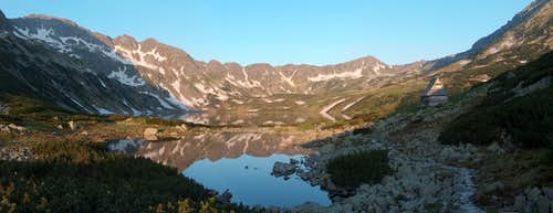 Sunrise in the Valley of the Five Lakes, from near the <a href=