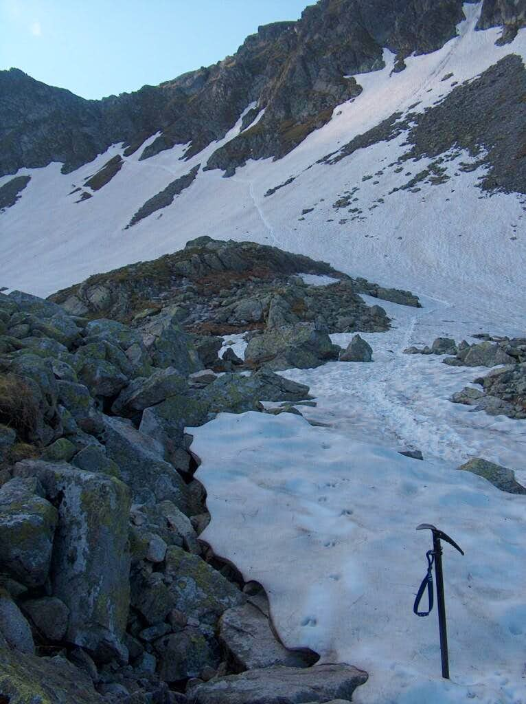 Climbing to Szpiglasowa Przełęcz