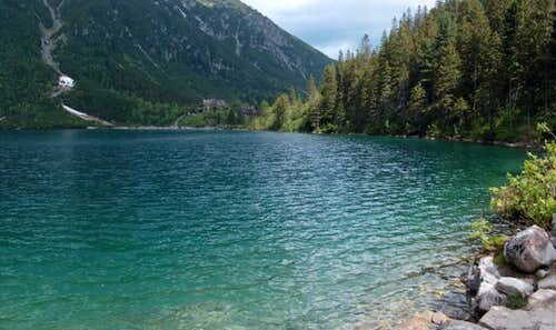 Lake Morskie Oko, still in the quietness...