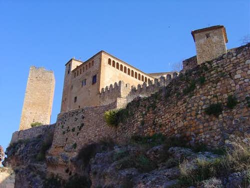 The castle of Alquezar in...